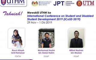 International Conference on Student and Disabled Student Development 2019 (ICoSD 2019)