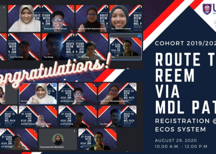 COHORT 2019/2020  ROUTE TO REEM VIA MDL PATH