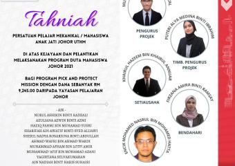 Tahniah Persatuan Pelajar Mekanikal  FKMP
