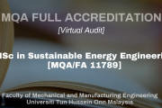 MQAVA Full Accreditation Audit: Master of Science in Sustainable Energy Engineering [MDL]