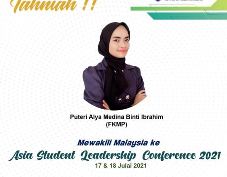 Tahniah Puteri Alya Medina, Wakil Malaysia ke ASLC 2021
