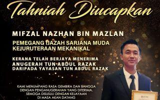 Pelajar FKMP Penerima Anugerah Tun Abdul Razak
