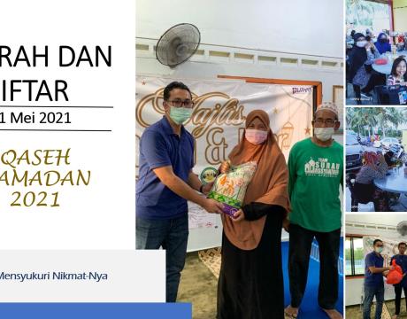 Program Ziarah dan Iftar Qaseh Ramadan 2021 di Tanjung Sedili
