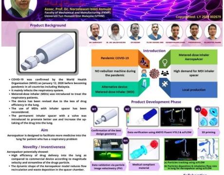 Produk 'AerospaAcer' raih pingat perak di MTE 2021 Covid-19 International Innovation Awards II