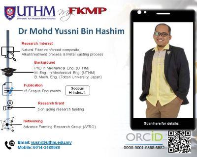 Dr. Mohd Yussni Bin Hashim
