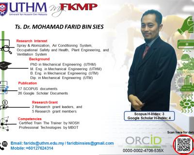 Ts. Dr. Mohamad Farid Bin Sies