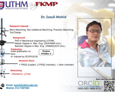 Dr. Zazuli Mohid